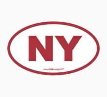 New York NY Euro Oval RED Kids Clothes