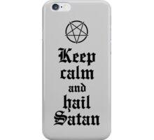 Keep calm and hail Satan V.2 (black) iPhone Case/Skin