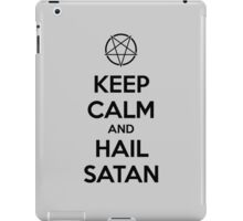 Keep calm and hail Satan V.1 (black) iPad Case/Skin