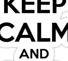 Keep calm and hail Satan V.1 (black) Sticker