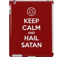 Keep calm and hail Satan V.1 (white) iPad Case/Skin