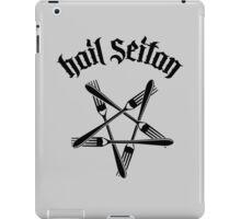Hail Seitan 1.2 (black) iPad Case/Skin