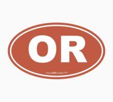Oregon OR Euro Oval ORANGE by USAswagg2