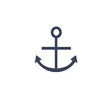 Rustic Navy Blue Ship Anchor by RusticHarbor