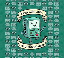 Bmo Keep Calm - Adventure Time by cesimagina