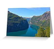 Views: 6891. Earth Wonders -  the Gerianger Fjord . Møre og Romsdal . Norway . by Doctor Andrzej Goszcz.  Greeting Card