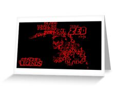Zed text poster Greeting Card