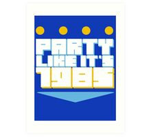 Party Like it's 1985 Crown Art Print