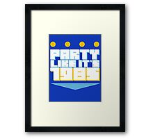 Party Like it's 1985 Crown Framed Print
