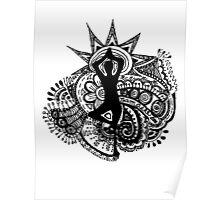 """""""Namaste"""" Yoga Doodle Poster"""