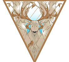 stag in nature triangle by trenzy