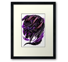 Black Eclipse Wyvern Framed Print
