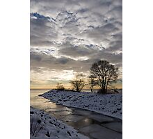 Broken Ice, Broken Clouds Photographic Print
