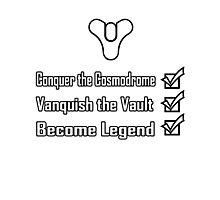 Destiny Become Legend Checklist Photographic Print