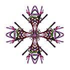 Purple Kangaroo Paw Design for Tee shirts, Cushion Covers & Tote bags by Leonie Mac Lean