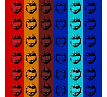 Red vs. Blue (group one) Photographic Print