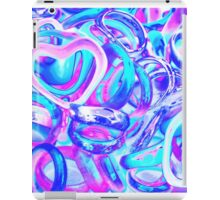 abstract colorful rings as background iPad Case/Skin