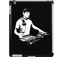 DJ Spock mixing on the decks (star trek) iPad Case/Skin
