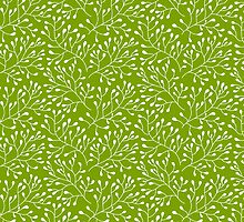 Floral green seamless pattern by smotrivnebo