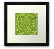 Floral green seamless pattern Framed Print