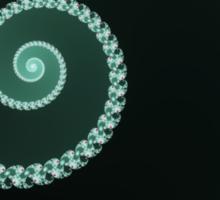 Green and Gray Fractal Spiral Sticker