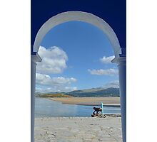 View Through an Arch at PortMeirion Photographic Print