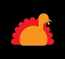 Sitting simple Thanksgiving Turkey by jazzydevil