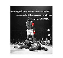 Muhammad Ali Quote Photographic Print