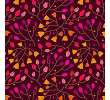Floral seamless pattern  Photographic Print