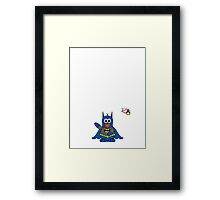 Hero/Icon Penguin - Batman Framed Print