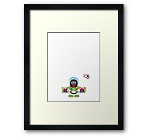 Hero/Icon Penguin - Buzz Lightyear Framed Print