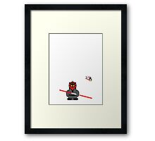 Hero/Icon Penguin - Darth Maul Framed Print