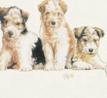 Fox Terrier Puppies Sticker