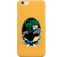 """We're all mad here"" Sticker iPhone Case/Skin"