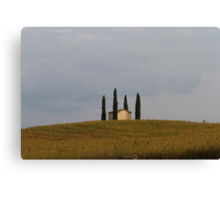 only one house on the hill Canvas Print