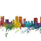 Fort Worth Texas Skyline by Michael Tompsett