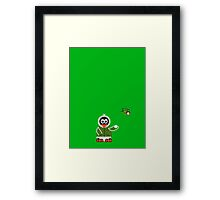 Christmas Penguin - Kid (Snowball) Framed Print