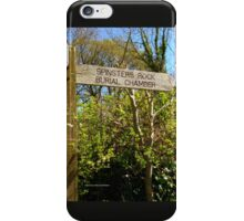 Spinster's Rock Burial Chamber iPhone Case/Skin