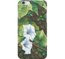 Bell Vine Flowers - Aquamarkers. iPhone Case/Skin