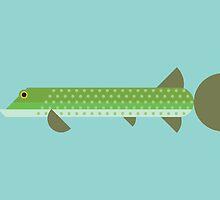 Northern Pike vector illustration by GA-Studio