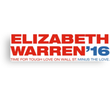 Elizabeth Warren For President Canvas Print