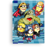 Cute caricature parody comics superheroes Group Canvas Print