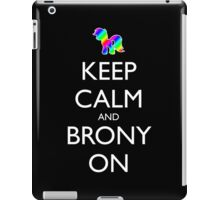 Keep Calm and Brony On - Black iPad Case/Skin