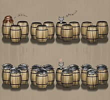 Famous Cats_ Barrels by OliverDemers