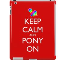 Keep Calm and Pony On - Red iPad Case/Skin