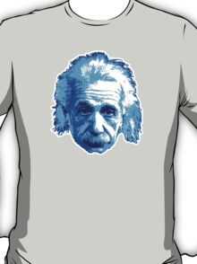 Albert Einstein - Theoretical Physicist - Blue T-Shirt