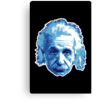 Albert Einstein - Theoretical Physicist - Blue Canvas Print