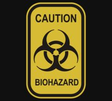 Caution Biohazard Sign - Yellow & Black - Rectangular Kids Clothes