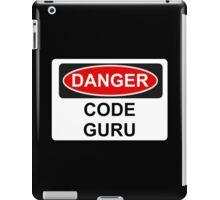 Danger Code Guru - Warning Sign iPad Case/Skin