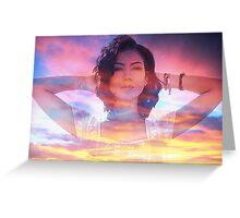 Jhene Aiko Sunset Seas Greeting Card